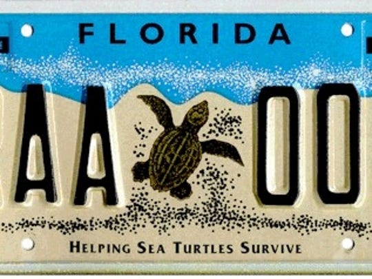 Helping Sea Turtles Survive is the third most-popular specialty license plate in Florida.