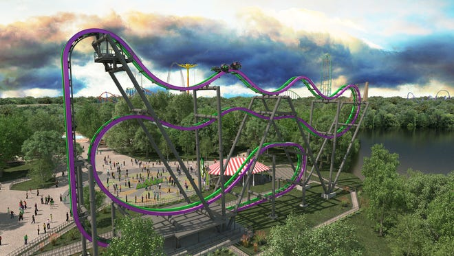 The Joker arrives at Six Flags Great Adventure in Jackson this spring.