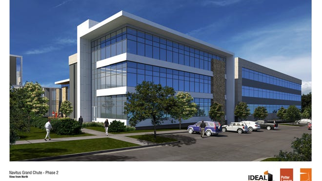 Artist's rendering of Navitus Health Solutions' second Appleton building, which is under construction now and scheduled to open in October.