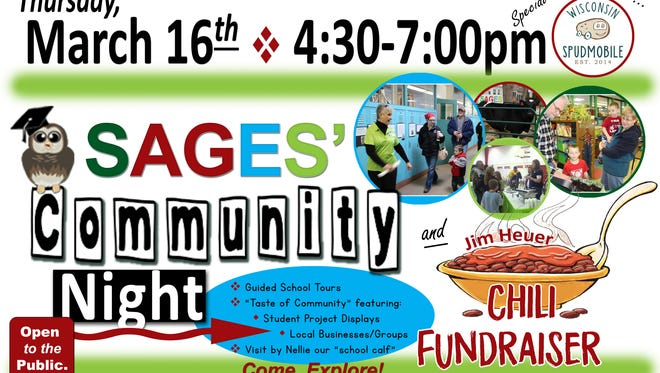 SAGES charter school to hold Community Night on March 16.