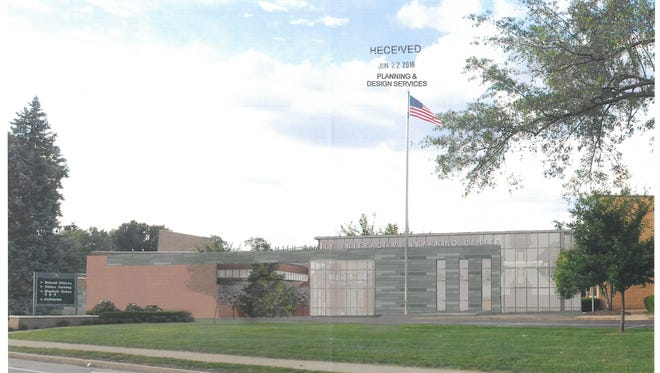 Proposed design and renderings of the new St. Xavier Callahan Media Center