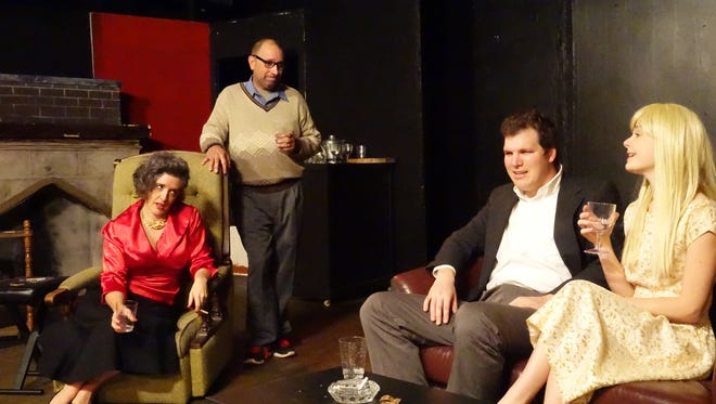 """The local cast of """"Who's Afraid of Virginia Woolf?"""" includes, from left, Caroline Helm, Danny Ladmirault, Andrew Mills and Cayla Zeek."""