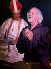 Bill Waxman plays The Inquisitor in the Elite Theatre