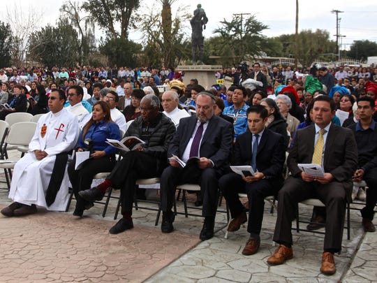 People gathered at Our Lady of Soledad Church in Coachella on Sunday for the annual Migration Mass held by the Diocese of San Bernardino. The mass was dedicated to the plight of refugees around the world.