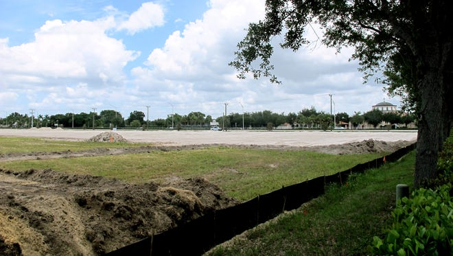 Avery Square gated residential community is being built on Airport-Pulling Road in North Naples across the street from St. Katherine Greek Orthodox Church, right. (Tim Aten/Naples Daily News)