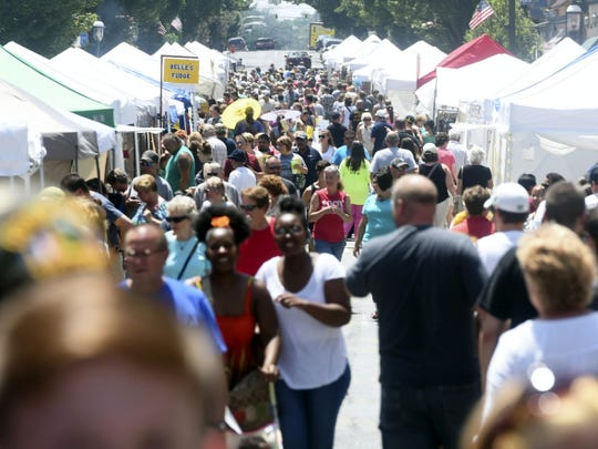 Hundreds of people fill downtown streets every year