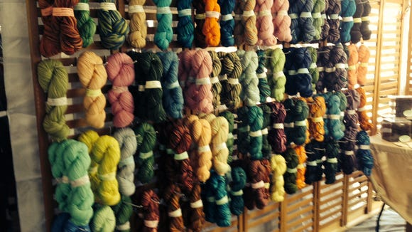 So much yarn, so little time! Much of it is hand-dyed by independent dyers, especially for the festival.