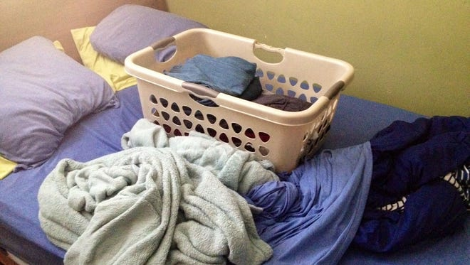Put my laundry away? Oh, I didn't see it there.