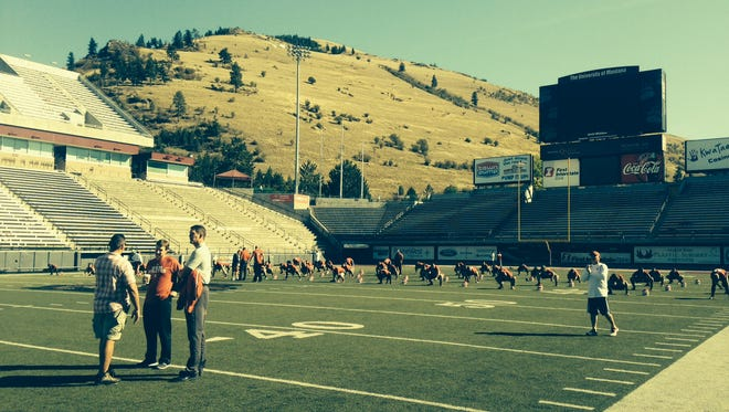 The view beyond Washington-Grizzly Stadium on Friday afternoon.
