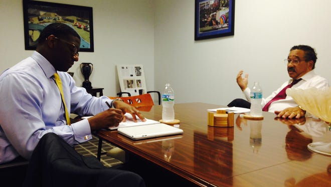 Tallahassee Mayor Elect Andrew Gillum and his soon-to-be predecessor Mayor John Marks sat down this afternoon in an informal transition meeting.