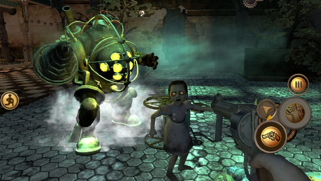 A screenshot for BioShock, which launches on iPhone, iPad and iPod Touch later this summer.