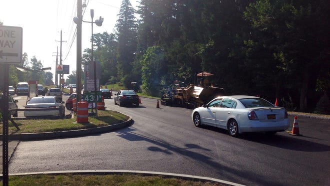 Reconstruction work on New Hempstead Road in New City has reached its final stages. It's expected to wrap up this month.