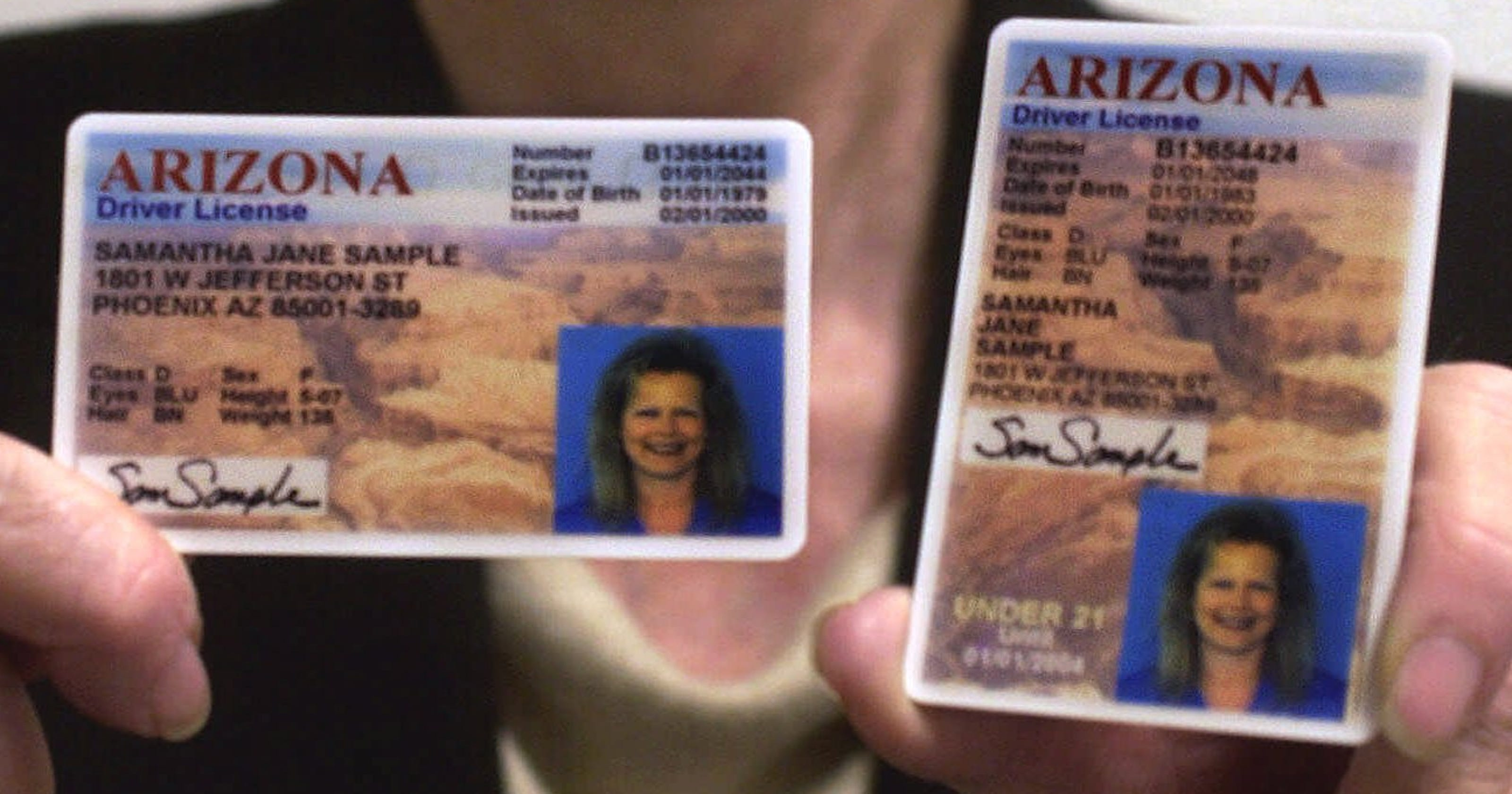 arizona drivers license photo expiration