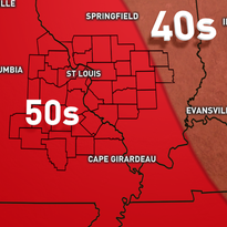 Friday highs will be in the 40s for much of the viewing area
