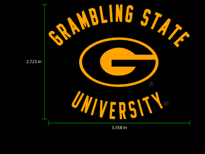 Adidas design for a black Grambling State pullover.