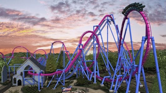 The $24 million Banshee roller coaster debuts April 25, 2014, at Kings Island. It's the park's largest investment in its 42-year history.