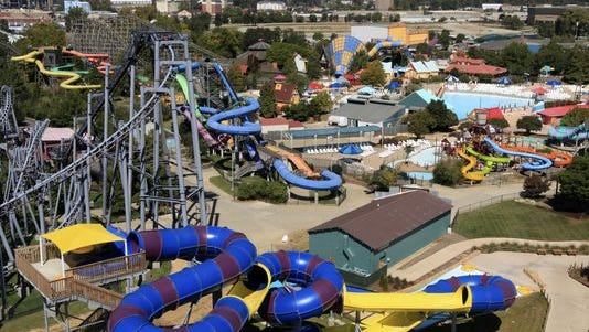 Kentucky Kingdom and water park.