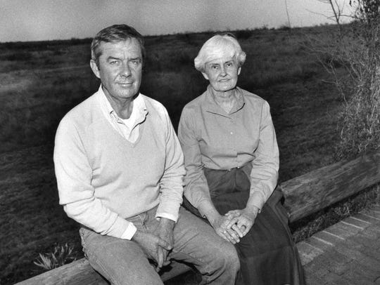 Fred and Kay Campbell outside their home in Paint Rock