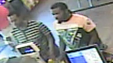 Police are searching for two suspects in a car burglary in Scott Tuesday.