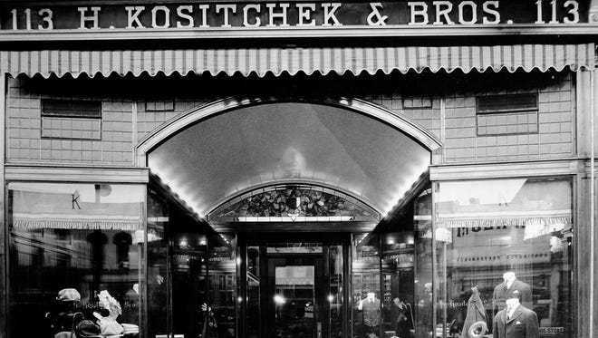 Historic picture of Kositchek's in downtown Lansing.