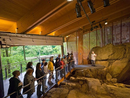 Meadowcroft Rockshelter Interior-copyright 2008 Ed Massery