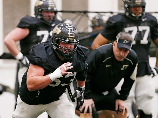 LAF Purdue spring practice day 7