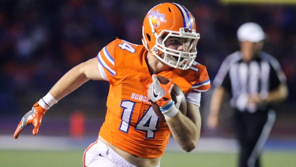Central's Henry Teeter hauled in a 71-yard touchdown
