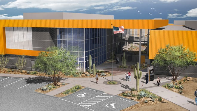 A design for the new Western Maricopa Education Center Northwest Campus that will greet Surprise in fall 2017 for more education and business opportunities in the area.