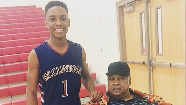 McClintock point guard Malique Washington lost his grandfather on Dec.27. He is working on a children's book in his grandfather's honor.