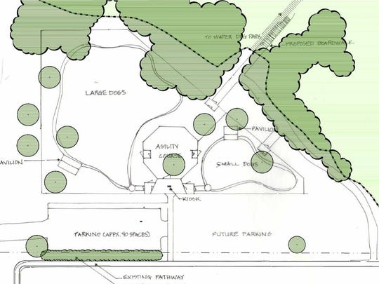 An earlier draft of phase one for the Fort Gratiot Dog Park