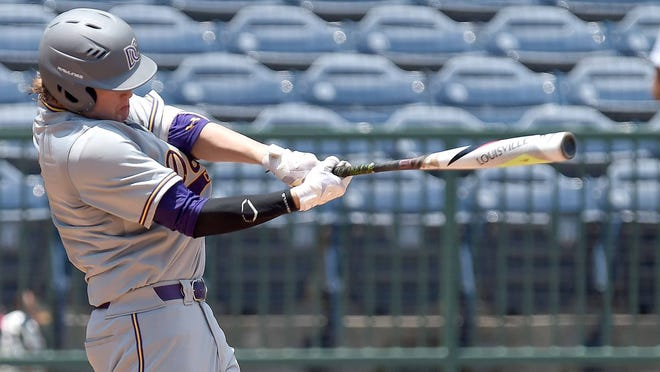 DeSoto Central's Blaze Jordan hits against George County on Saturday, May 19, 2018, in the MHSAA State Baseball Championships at Trustmark Park in Pearl, Miss. (Photo: Chris Todd, For Clarion Ledger)
