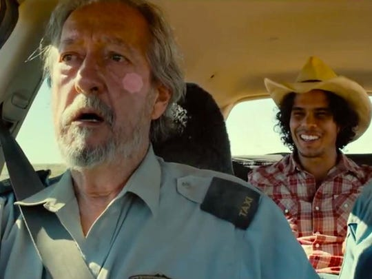 "In ""Last Cab to Darwin"" a terminally ill cab driver (Michael Caton) driving across the Australian continent for euthanasia reluctantly takes along an aborigine (Mark Coles Smith) to save his life."