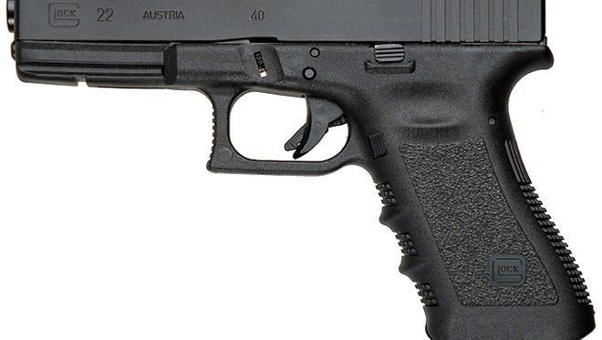 Shreveport police stadard-issue Glock .22 40-calibur handgun
