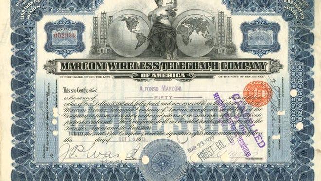 Marconi wireless bond.