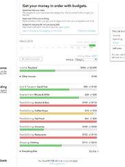 Screenshot of Mint personal finance app