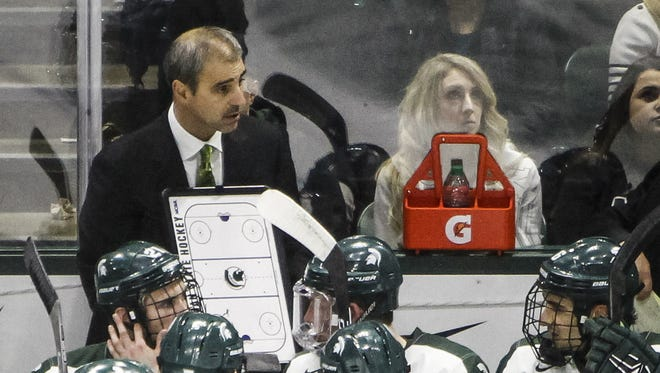 Michigan State hockey coach Tom Anastos.