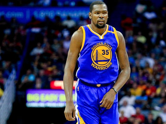 22babd7aa2ea Golden State Warriors forward Kevin Durant will face his old teammate Russell  Westbrook Thursday. (Photo  Derick E. Hingle-USA TODAY Sport)