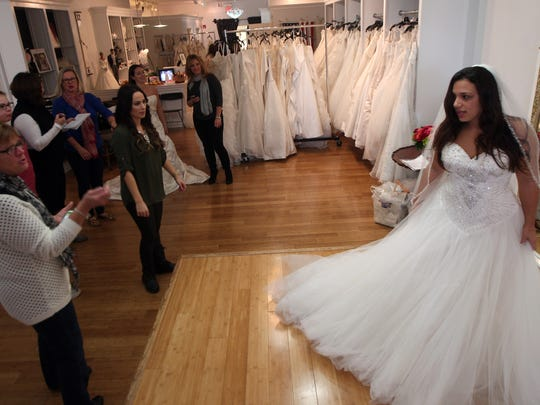 Christina Barletta of Bridgewater models a wedding