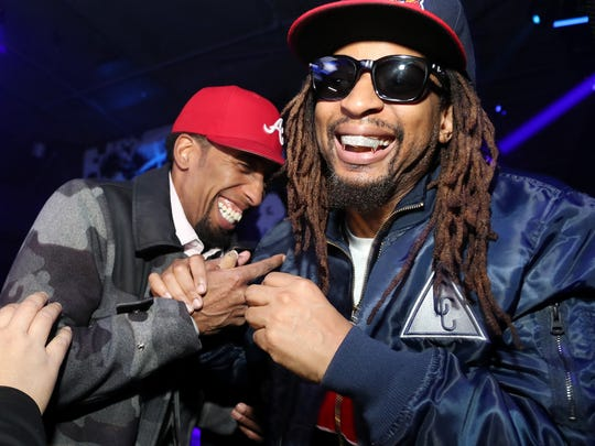 YEEEAAAH!  Lil Jon, right, attends TAO group's Big Game Takeover presented by Tongue & Groove on Thursday, in Atlanta.