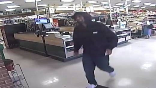This man was caught on a security camera Friday after robbing Zweier's Foodkart, police said. Anyone with information is asked to contact police.
