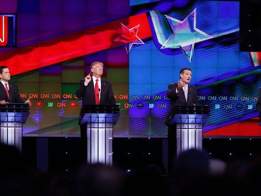 Ted Cruz, Marco Rubio, Donald Trump, John Kasich