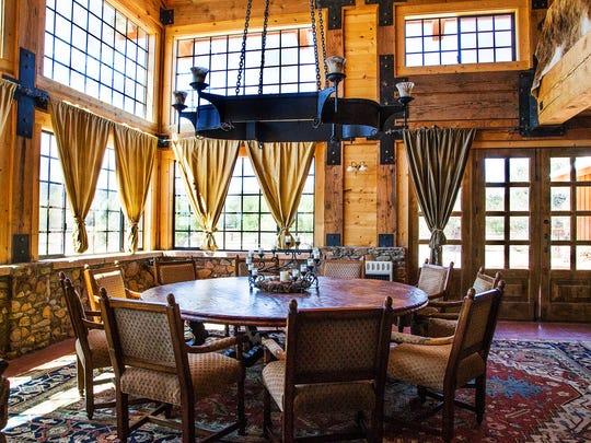 The dining room at Terra Farm + Manor will host many