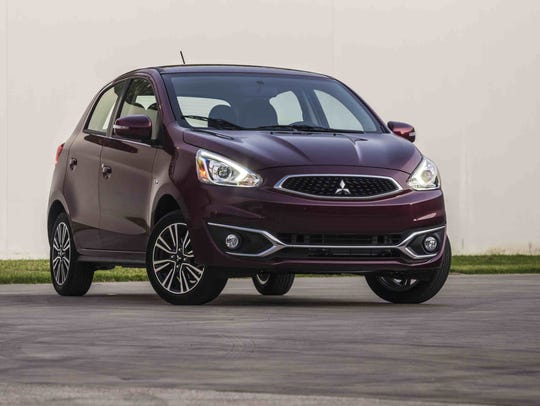 The 2017 Mitsubishi Mirage GT.