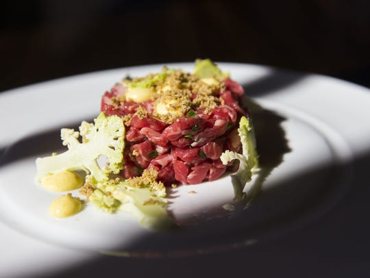 Prime steak tartare from Lincoln Restaurant at the