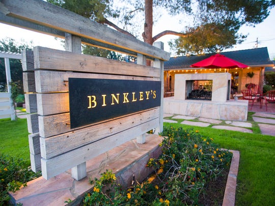 Exterior of Binkley's Restaurant in Phoenix, Ariz.