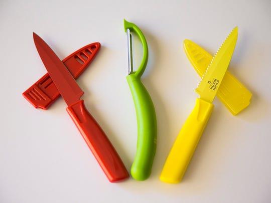 Robin Miller's favorite summer kitchen gadget, Kuhn Rikon piranha peeler set, from her home in Scottsdale, Ariz. April 26, 2017.