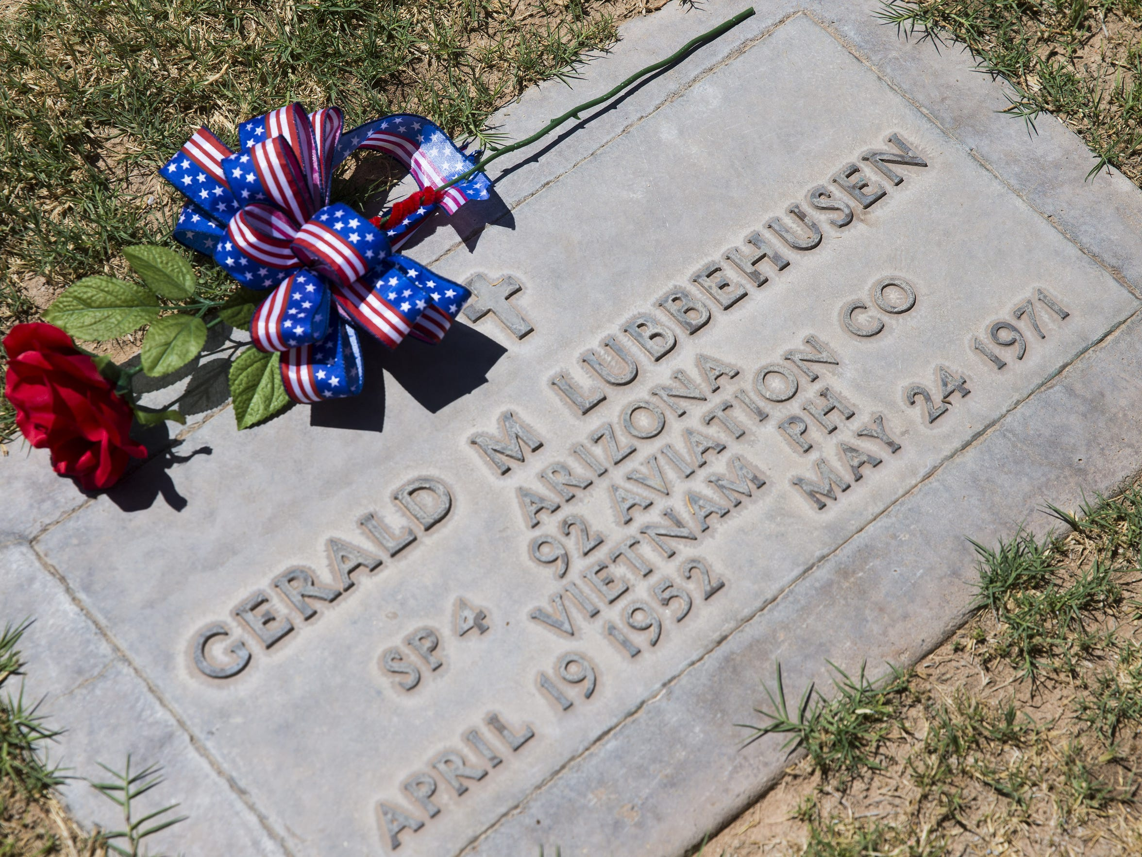 Spc. Gerald Lubbehusen was buried at Holy Cross Cemetery