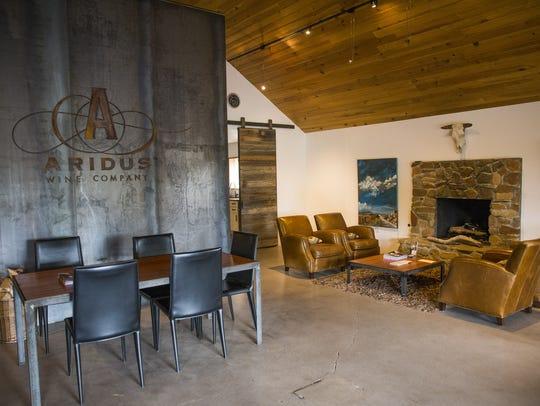 Aridus Wine Company tasting room in Willcox, Ariz.
