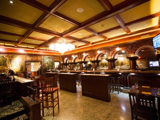 Bar area inside the Stockyards Restaurant in Phoenix,