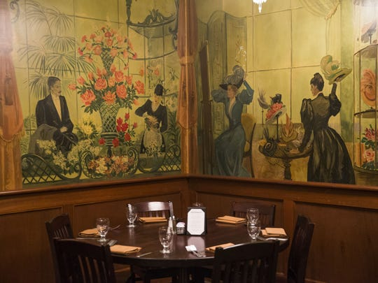 "The ""rose banquet room"" inside the Stockyards Restaurant"